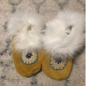 Handmade Baby moccasins.